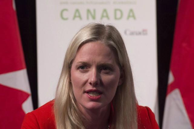 La ministre fédérale de l'Environnement, Catherine McKenna... (Photo Adrian Wyld, La Presse Canadienne)