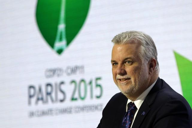 Le premier ministre québécois, Philippe Couillard... (Christophe Ena, AP)