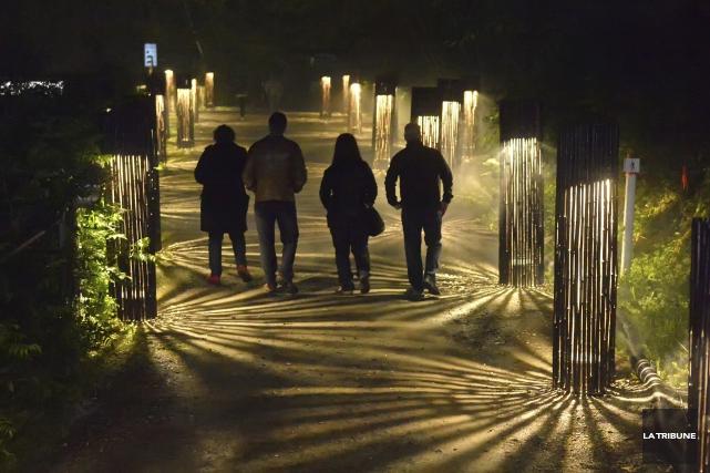 Foresta Lumina a attiré des foules jamais vues... (Archives, La Tribune)