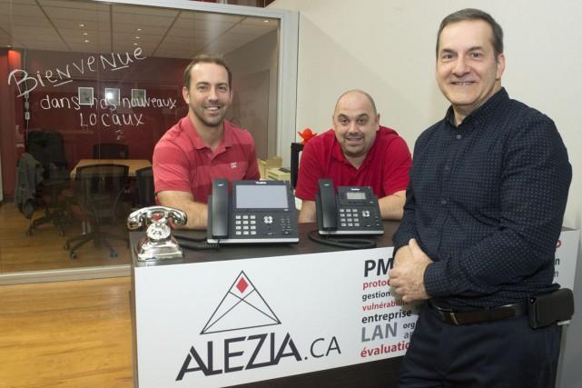 Alezia Technologies a inauguré ses nouveaux locaux, mercredi,... (Stéphane Lessard)