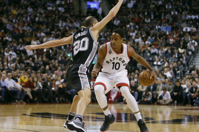 Parfait en huit lancers francs, DeRozan a aussi... (Photo USA Today Sports)