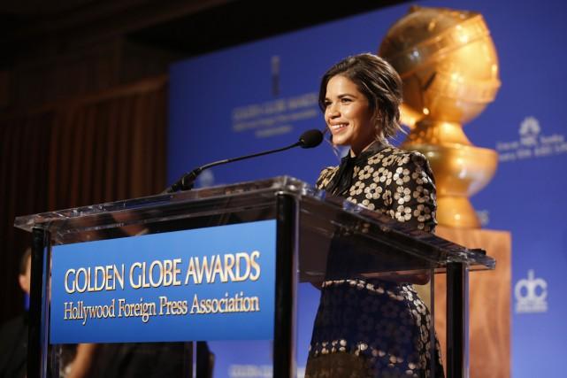 L'actrice America Ferrera était l'une des présentatrices des... (PHOTO REUTERS)