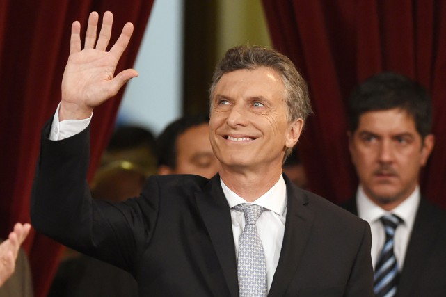 Mauricio Macri est officiellement le nouveau président de... (PHOTO EITAN ABRAMOVICH, AFP)