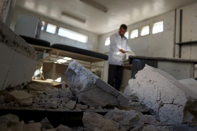 Au total, 95% des victimes ont été tuées... (PHOTO ALAA AL-FAQIR, REUTERS)