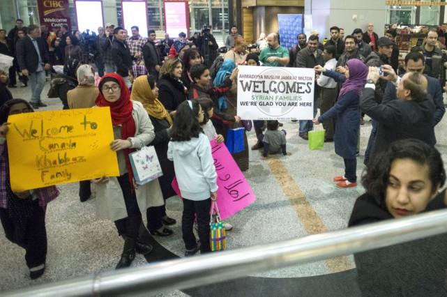 Un regroupement d'églises évangéliques qui parrainent des réfugiés syriens au... (PHOTO CHRIS YOUNG, ARCHIVES LA PRESSE CANADIENNE)