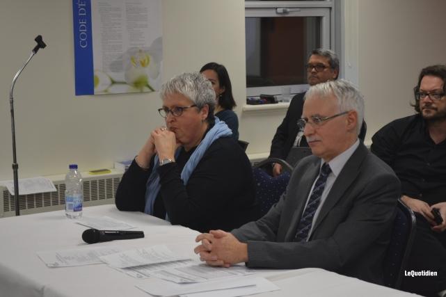 Les médecins Céline Benoit et Donald Aubin ont... ((Photo Le Quotidien Louis Potvin))