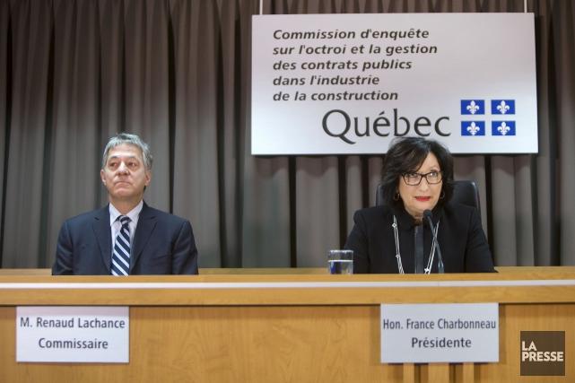 Éditorial / Le commissaire Renaud Lachance et la présidente de la Commission... (Archives, La Presse)