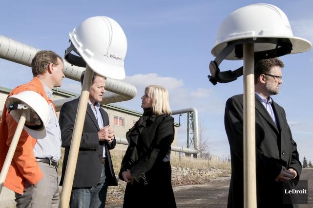 Windmill Developments a procédé à la première pelletée... (Patrick Woodbury, LeDroit)