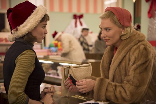 Rooney Mara etCate Blanchett partagent la vedette dansCarol... (Fournie par The Weinstein Company)