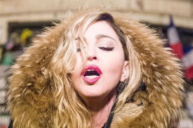 Madonna a fait cadeau d'une performance publique la... (Twitter)