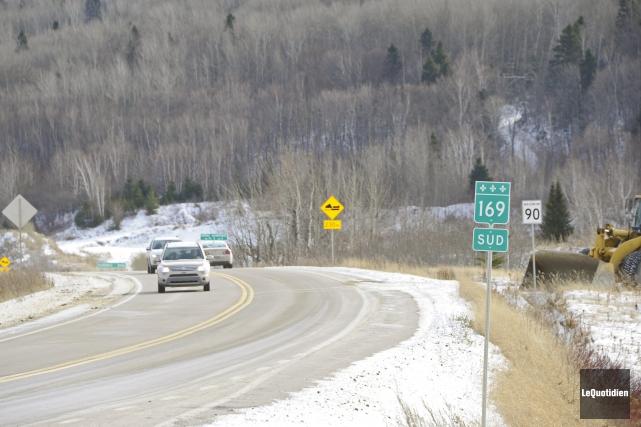 La route d'Hébertville, du km 61 jusqu'au rang... (Archives Le Quotidien)