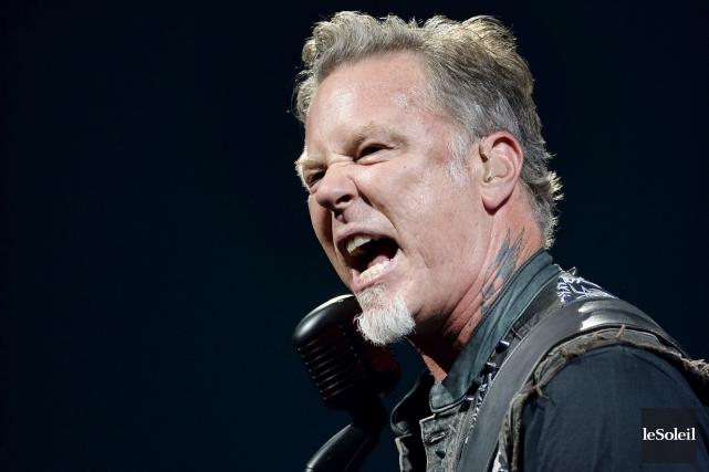 La prestation de la bande de JamesHetfield, Metallica,... (Photothèque Le Soleil, Jean-Marie Villeneuve)