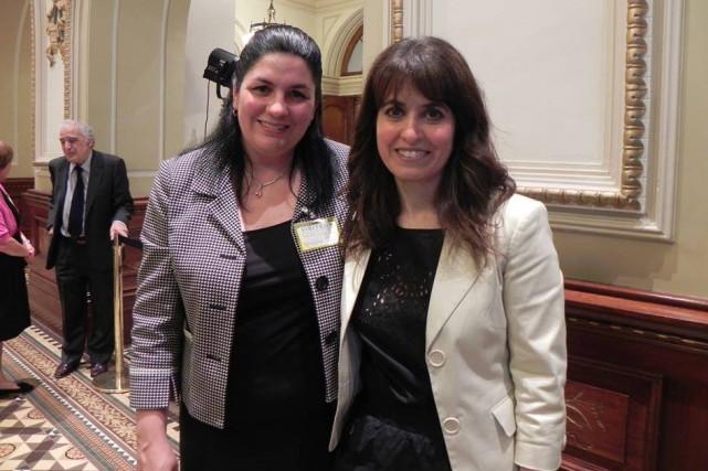 Invitée par la députée Véronique Hivon, l'Almatoise Marie-Josée... (Photo courtoisie)
