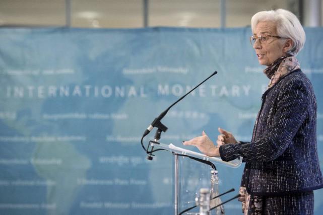 Christine Lagarde a jugé qu'il était aujourd'hui «prématuré»... (PHOTO STEFAN ROUSSEAU, AFP)