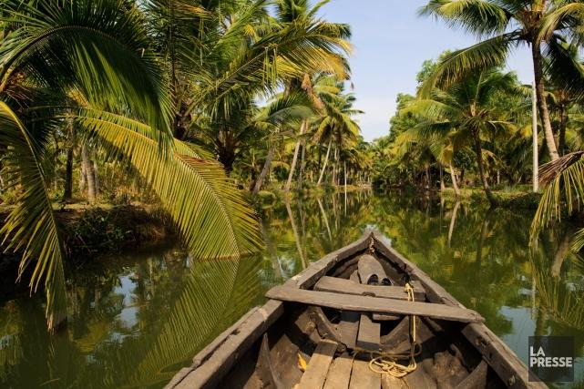 Les backwaters du Kerala, un réseau de 900km... (PHOTO MARIE-SOLEIL DESAUTELS, LA PRESSE)