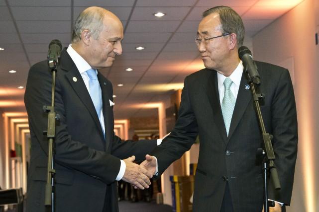 Le président de la Conférence de Paris sur... (Agence France-Presse, Michel Euler)