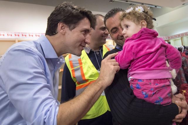 Le premier ministre Justin Trudeau était présent à... (Photo PC)