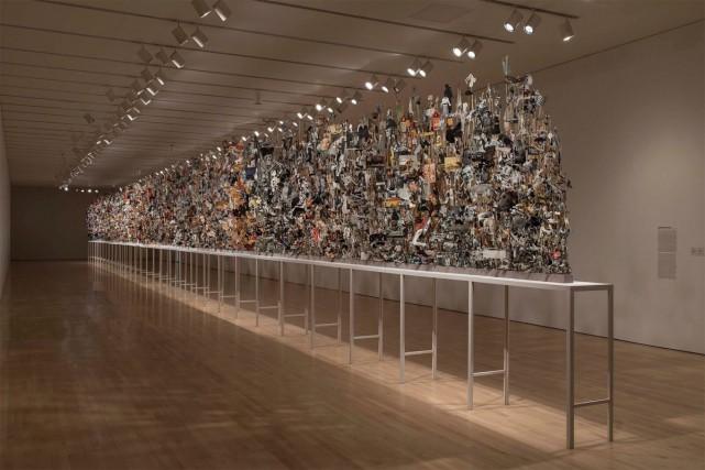 Geoffrey Farmer, Leaves of Grass, 2012 images découpées... (PHOTO FOURNIE PAR LE MUSÉE DES BEAUX-ARTS DU CANADA)