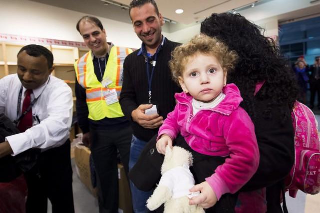 Les premiers réfugiés syriens sont arrivés à Toronto,... (Photo Nathan Denette, PC)