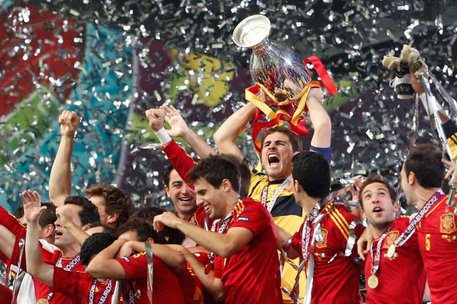 L'Espagne a remporté le dernier Championnat d'Europe de... (Photo Gregorio Borgia, archives AP)