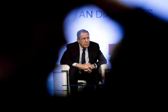 Le ministre russe des Affaires étrangères Sergueï Lavrov... (PHOTO ANDREW MEDICHINI, archives AP)