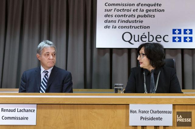 Les commissaires Renaud Lachance et France Charbonneau.... (Archives La Presse)