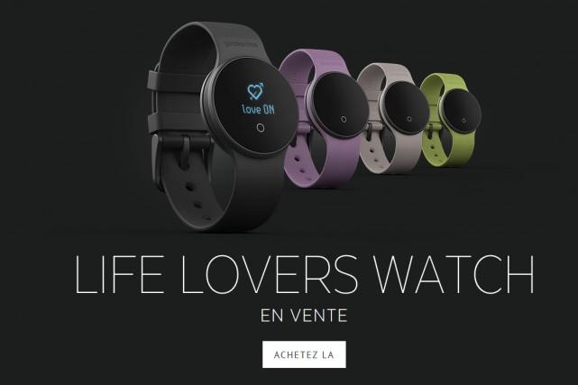 La montre connectée (espagnole) Geeks!me permet de mesurer... (CAPTURE D'ÉCRAN)
