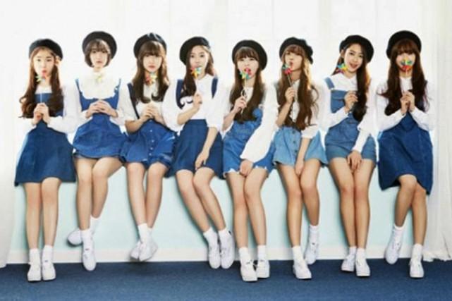 Les huit membres du groupe féminin Oh My... (PHOTO TIRÉE DE GOOGLE IMAGES)
