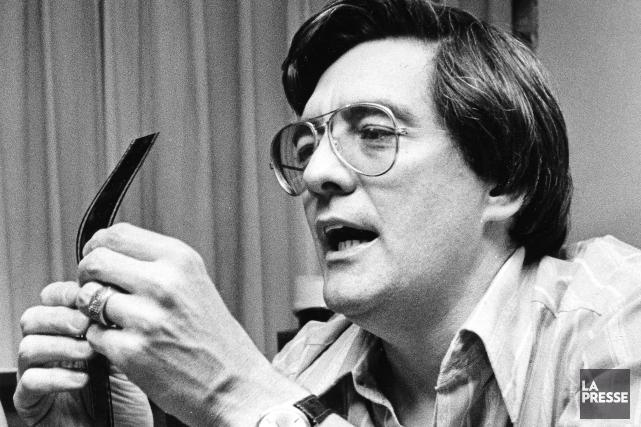 Denis Héroux en plein travail en 1978... (La Presse Canadienne, Chuck Stoody)