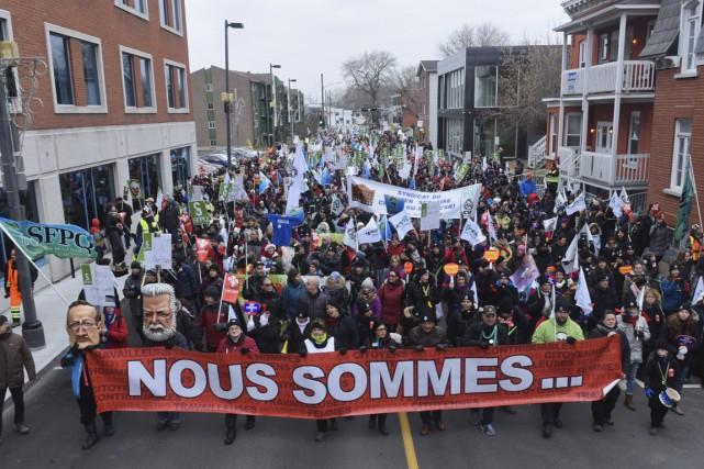 Des manifestations du Front commun ont eu lieu... (François Gervais)