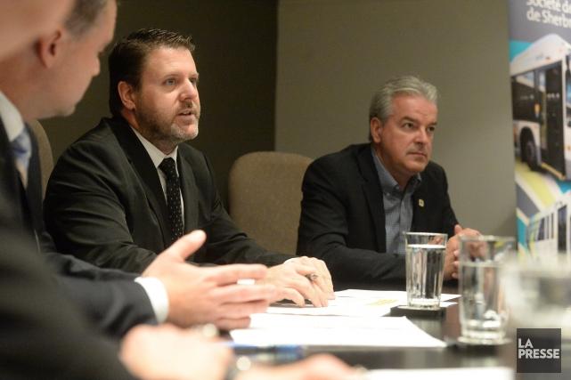 Bruno Vachon, président de la STS, et Bernard... (Spectre Média, Maxime Picard)