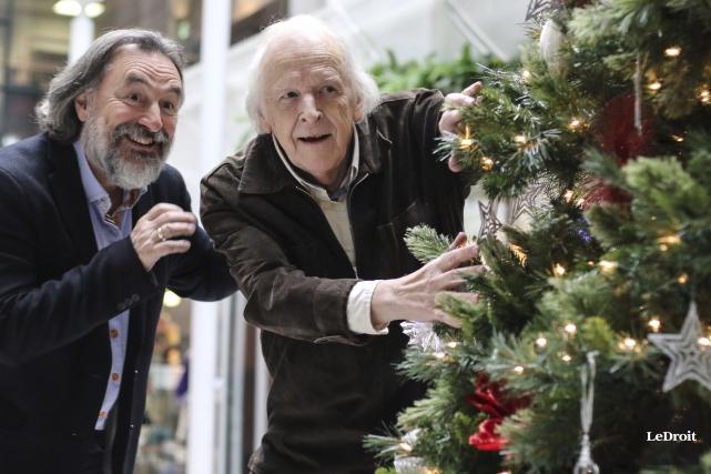 Le maestro Yves Léveillé et le comédien Marcel... (Patrick Woodbury, LeDroit)