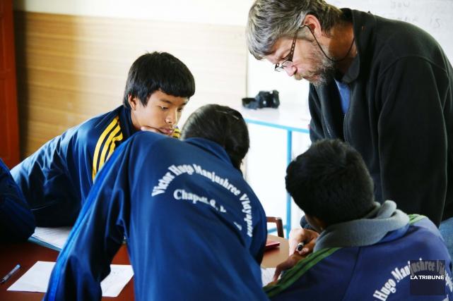 Le Drummondvillois Marc St-Louis se trouve à Katmandou,... (La Tribune, Yanick Poisson)
