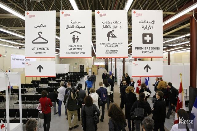 L'arrivée des premiers réfugiés syriens par vols nolisés... (Archives La Presse)