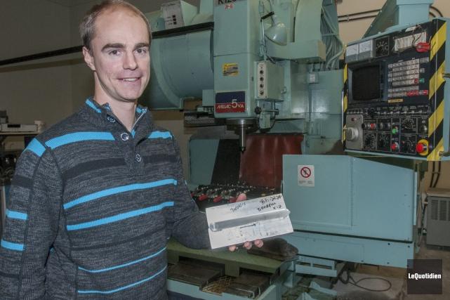Kirk Fraser, étudiant au doctorat en ingénierie à... (Photo Le Quotidien, Michel Tremblay)