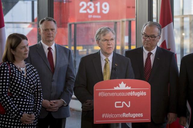Le Canadien National a annoncé vendredi un don... (La Presse Canadienne)