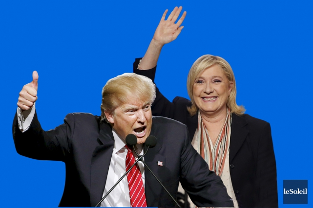 Donald Trump et Marine Le Pen... (Infographie Le Soleil)