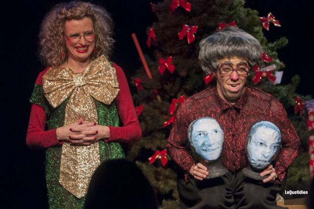 Les comédiens Mélanie Potvin et Patrick Simard sont... (Photo Le Quotidien, Michel Tremblay)