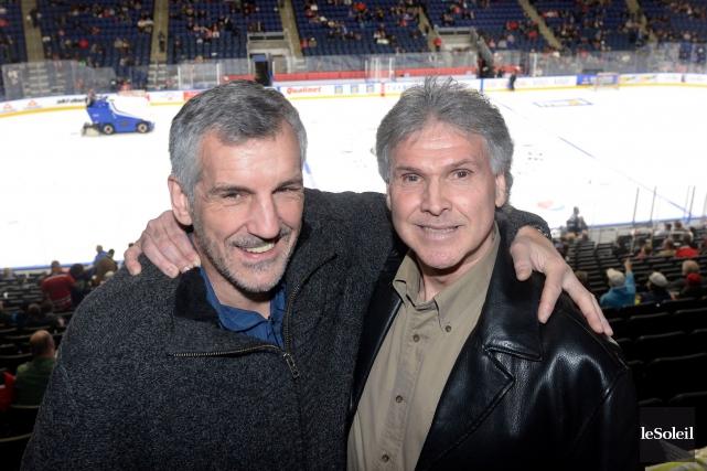Réal «Buddy» Cloutier et Mario Marois ont connu... (Le Soleil, Jean-Marie Villeneuve)