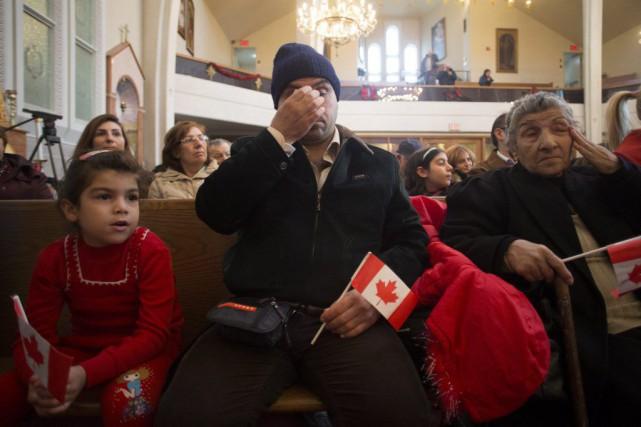 Les réfugiés syriens qui sont récemment arrivés à Montréal, à Laval et à... (PHOTO CHRIS YOUNG, ARCHIVES LA PRESSE CANADIENNE)