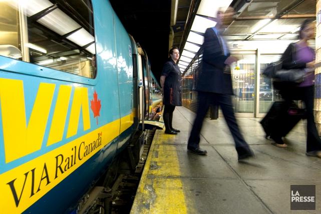 Le tracé initial du train à grande fréquence... (La Presse, Robert Skinner)