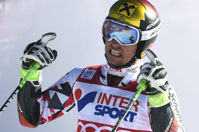 Marcel Hirscher... (PHOTO PHILIPPE DESMAZES, AFP)