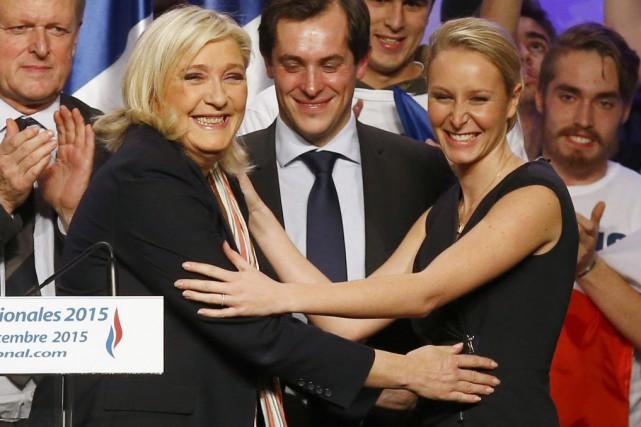 Pour les présentes régionales, Marine Le Pen et... (PHOTO FRANÇOIS MORI, AP)