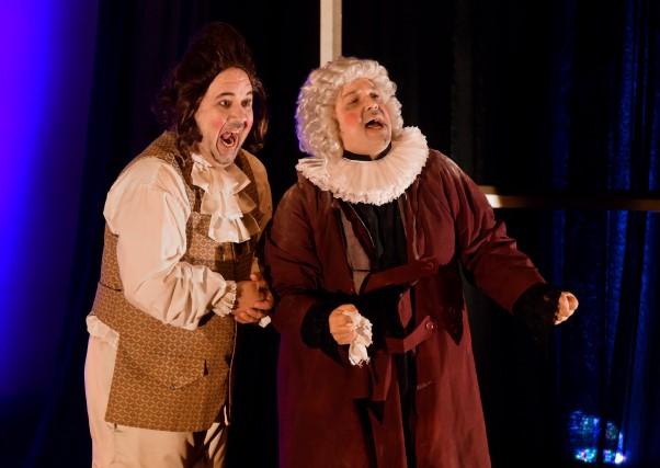 Ci-dessus, les comédiens Martin Francoeur et Patrick Lacombe... (photo: François Gervais)