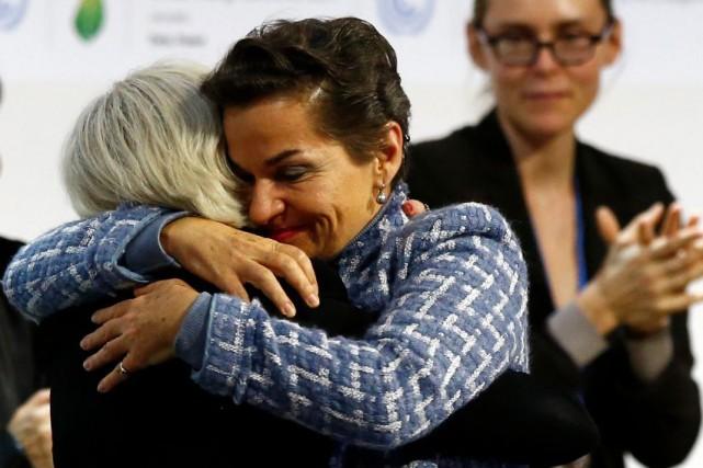 La responsable climat de l'ONU, Christiana Figueres, et... (AP, François Mori)