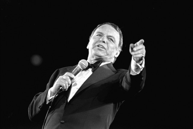 Frank Sinatra en 1974... (PHOTO ARCHIVES AP)
