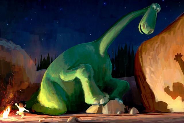 Perdu, le jeune dinosaure Arlo dansLe bon dinosaureobtient... (Fournie par Pixar-Disney)