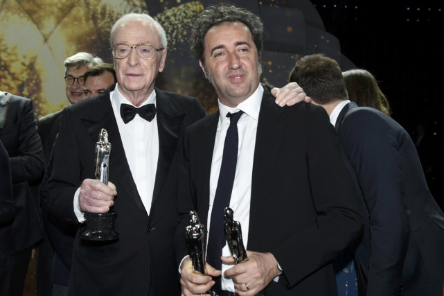 L'acteur britannique Michael Caine et le réalisateur italien... (Photo Clemens Bilan, AFP)
