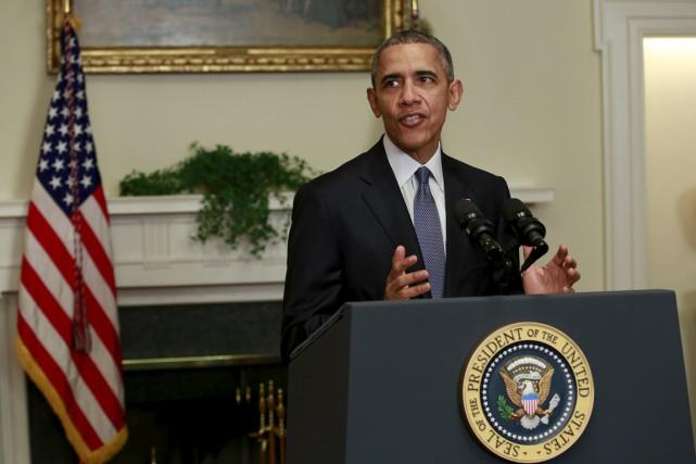 Le président américain a remercié les quelque 200... (Photo Yuri Gripas, Reuters)