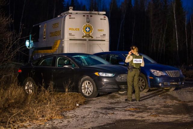 La Sûreté du Québec a entrepris des recherches... (Photo Olivier Croteau)